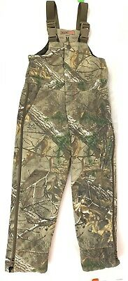 d147be7dda487 RedHead Silent-Hide Bib Camo Overalls Youth M Hunting insulated full leg zip  C12