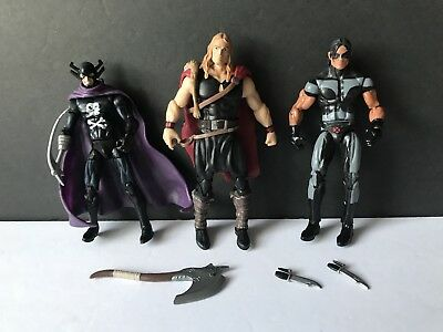 "Marvel Universe Thor Grim Reaper Warpath 3.75"" Figure X-Men Avengers Lot"