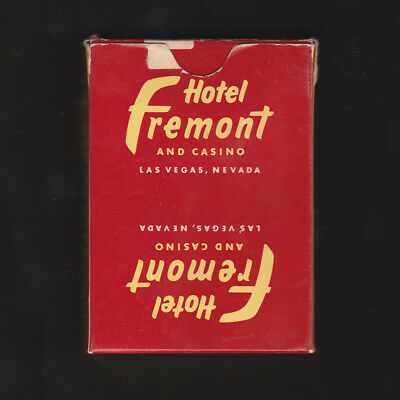 """Hotel Fremont and CASINO Las Vegas Playing Cards, """"COMPLIMENTS OF"""" hard to find"""