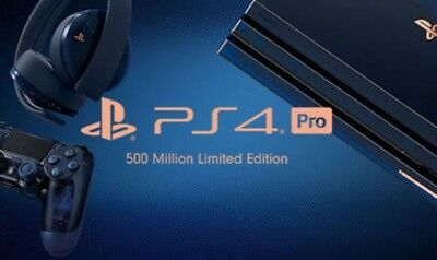 NEW PS4 Playstation 4 PRO Limited Edition 500 Million 2TB Bundle Translucent BLU