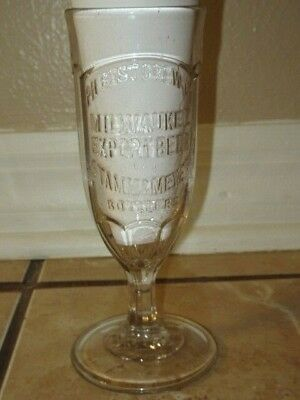 Ph Best Brewing Co. Milwaukee Embossed Beer Glass Stamm & Meyer Bottlers