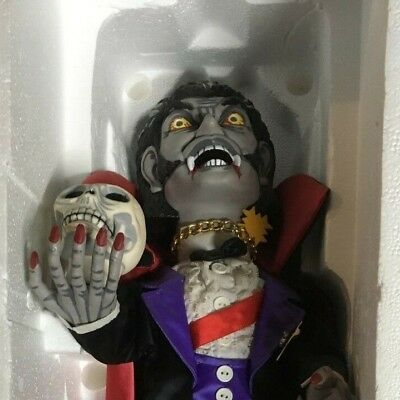 DRACULA animated halloween display figure 2ft witch time vampire monster