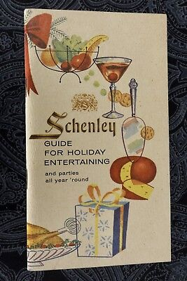 Vintage Schenley Whiskey Guide For Holiday Entertaining Booklet Retro Graphics