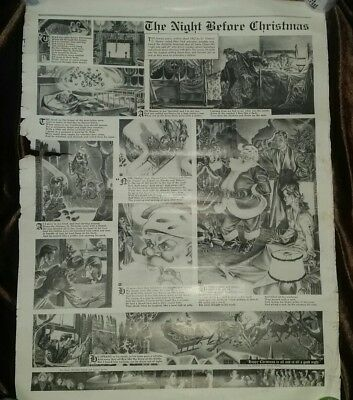 RARE 1941 Proof Night Before Christmas Newspaper Comic G Wunder Terry Pirates