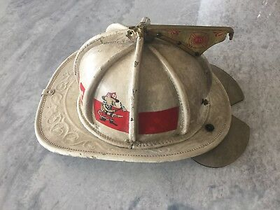 N5A New Yorker Helmet Firefighter Leather Engine Ladder Halligan Axe Fire Nozzle