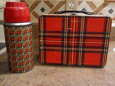 Holtemp Plaid Thermos And Lunch Box