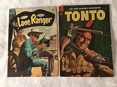 Two Western Comics,Lone Ranger #80 And Tonto #12