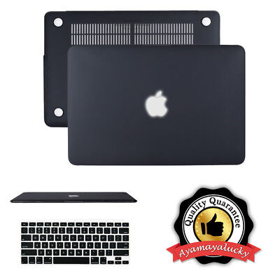 Matte Shell Hard Case + Keyboard Cover for MacBook Air 13'' A1369/A1466 Black