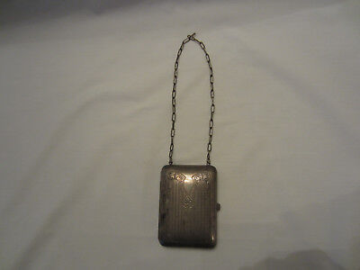 Antique Metal Coin Purse with Mirror and Coin Holders, German Silver, Compact