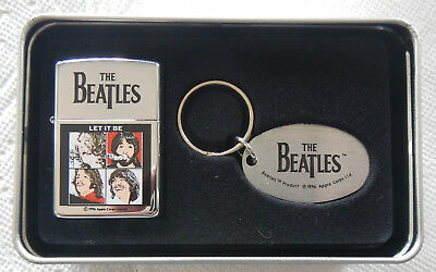 Zippo Lighter and Key Ring 1996 The Beatles in Original Box