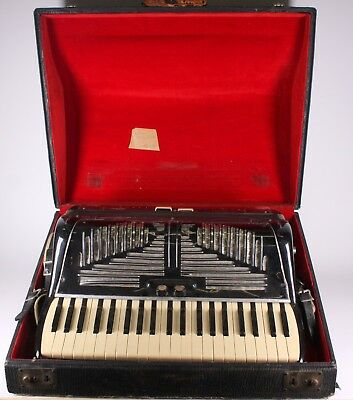 Vintage Fontanella Pesaro Accordion Instrument & Case