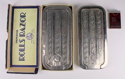 Vintage Rolls Razor No. 2 + Sharpener Sheffield Steel Nickel Plate Lot Of Two