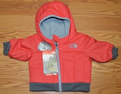 01d88abaeed North Face Baby Jacket Infant Hooded Reversible Yukon Red Size 0-3 New
