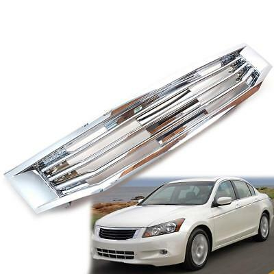 For 2008-2010 Honda Accord Front Hood Bumper Grill Cover Chrome 1 PC
