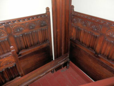 Antique Carved Bed Single lot of 2 Matching