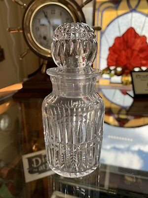 Antique Barber Shop Bottle, Hand Cut Crystal!