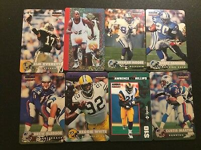Lot Of (8) Different Football And Basketball Sprint Calling Cards