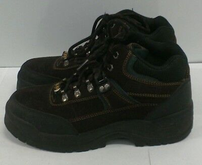 MACK Men's Mid-Cut Leather Steel Toe Work Boots Brown Black Green Size 8-1/2