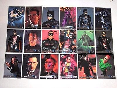 1995 Fleer Ultra Batman Forever Base 120 Card Set! Dc Comics! Robin! Two-Face!!