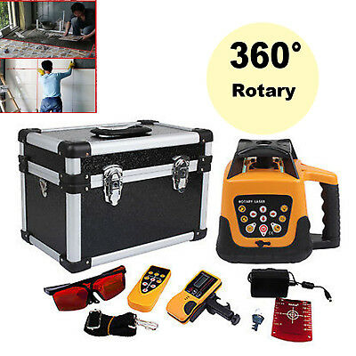 500m Range Automatic Self-Leveling Rotary Red Laser Level Kit Remote Control