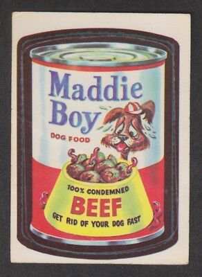 Wacky Packages 1973 RED LUDLOW Camel Back Original Series 1 MADDIE BOY