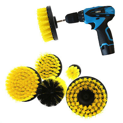 5Pcs Yellow Tile Power Scrubber Cleaning Drill Brush Tub Cleaner Combo Kit