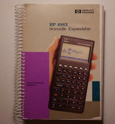 HP 48SX Owner's Manual Vol. 1 Spiral Bound