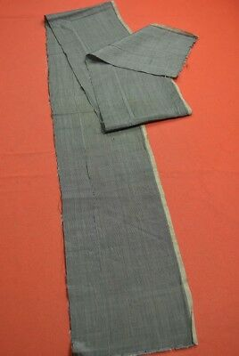 QD24/40 Vintage Japanese Fabric Cotton/Silk Antique Boro Indigo Blue SHIMA 67.3""