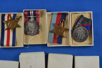 Lot of 4 Canadian Medals WW2 Royal Canadian Naval Service In Boxes