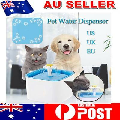 Water Fountain Replaceable Filtration Automatic Cat Water Fountain Mute 1.6L