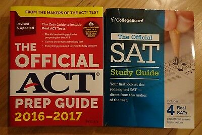 The Official SAT Study Guide & The Official ACT Prep Guide Used
