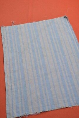 QD36/35 Vintage Japanese Fabric Cotton Antique Boro Patch Kusakizome SHIMA 16.9""