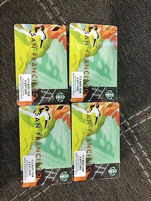 NEW! Starbucks Gift Card-2018 SAN FRANCISCO 25 Cards