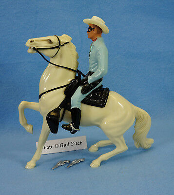 #3 Lone Ranger  – Near Mint w/ Hat, 2 pistols & S/R fancy-tail Silver – Hartland