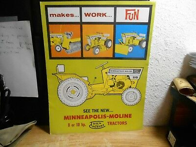 Minneapolis-Moline 8 Or 10 Hp Tractor Brochure A60 1964 4-64