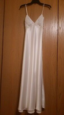 5724465fe3 Glamorous Satin Jonquil White Nightgown - EXCELLENT CONDITION - Sz S -  Vintage
