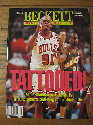 Beckett Basketball Monthly - August 1996 - Dennis Rodman Chicago Bulls