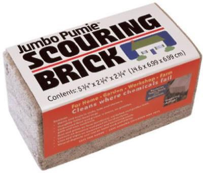 """Pumie 6"""" x 3"""" x 3"""" Jumbo Scouring Brick 100% Natural Pumice Stone Only One"""