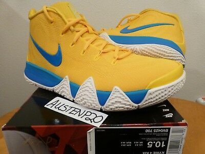 1d2166796c7 DS Nike KYRIE IRVING 4 IV Cereal Pack KIX YELLOW BLUE 10.5 BHM 943806 602 V