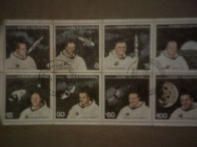 Vintage Astronauts Apollo 2-9 Neil Armstrong More Photo Postage Stamps