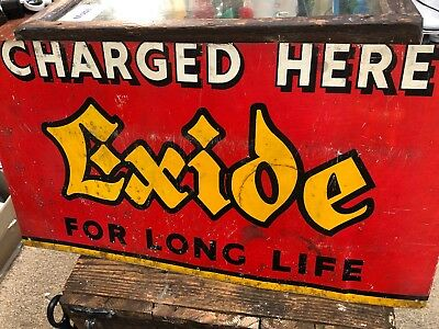 Exide Genuine Screenprinted Metal Sign
