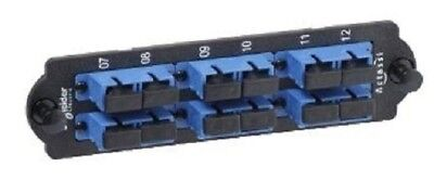Clipsal ACTASSI FIBRE OPTIC FRONT ADAPTER PLATE With 6xSC Duplex SM Adapters