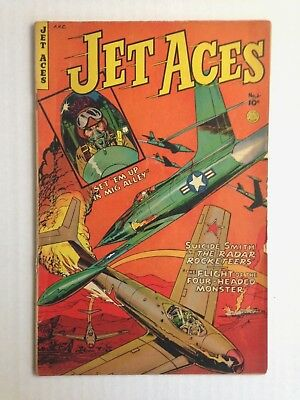 LOT OF 2 GOLDEN AGE: Jet Aces #1 and Commander Battle and the Atomic Sub #3!!!!!