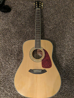 Fender DG-100 Natural Dreadnought Acoustic Guitar with Capo