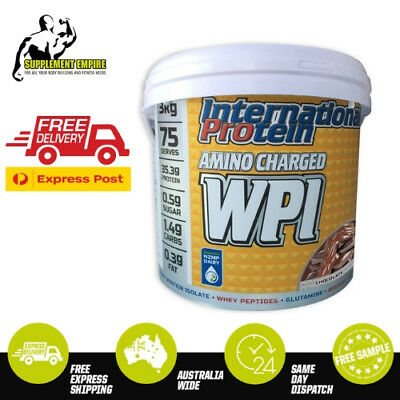 INTERNATIONAL PROTEIN AMINO CHARGED WPI WHEY PROTEIN HYDROLYSED 1.25 or 3 KG
