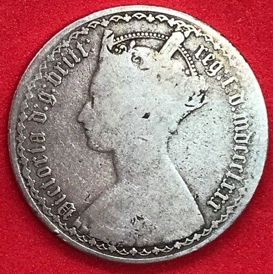 1880 Great Britain Florin - Victorian Sterling Silver G/VG