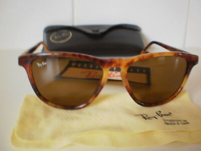 Vintage B & L RAY BAN Sunglasses STYLE 1 TORTOISE SHELL WITH CASE ETC MADE USA