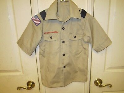 YOUTH BSA Boy Scouts of America Uniform Short Sleeved Shirt - Size SMALL EUC