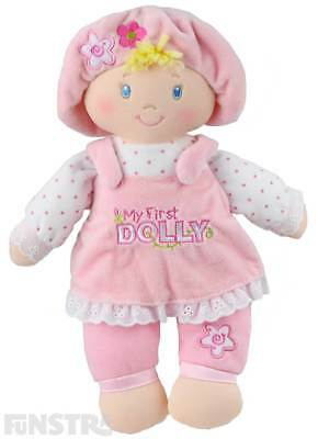 My First Dolly Plush Toy 32cm Soft Toy Doll Kid Childrens Newborn Baby Girl Gift
