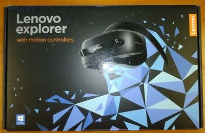 VR Headset Lenovo With Motion Controllers. As-new condition. In box.